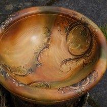 modern 2014 rosemaling turid helle fatland norway--layers of glaze