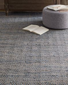 RH Baby & Child's Zigzag Weathered Denim Rug:Woven by hand from washed and weathered denim, this rug is as comfy and casual as a pair of vintage jeans. Reversible for twice the wear, it's also highly durable, with a dense weave and thick overstitching in a classic herringbone pattern. An artful arrangement of hues, from over-dyed to ultra-faced, produces ombré shading, while slightly uneven, hand-stitched edges complement its handcrafted look and feel.