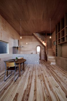Image 2 of 19 from gallery of House in Sayama / Coo Planning. Photograph by Yuko Tada Home Design, Interior Design, Architecture Office, Architecture Design, Kitchen Interior, Interior And Exterior, Prefabricated Houses, Wood Interiors, Glass House
