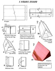 origami iphone stand