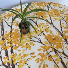 A personal favorite from my Etsy shop https://www.etsy.com/listing/269972474/vintage-tablecloth-golden-birch-tree