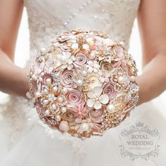 What do you think? Pink Bouquet by RoyalWeddingDecore on Etsy https://www.etsy.com/listing/488520683/wedding-bouquet-brooch-bouquet-bridal