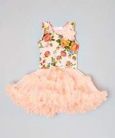 Look what I found on #zulily! Pink Floral Pettidress - Toddler & Girls #zulilyfinds