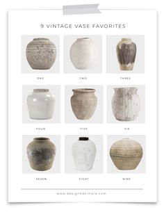 The biggest trend of Sharing 9 of my vintage vase favorites! They are all at different price points and affordable. Keramik Design, Diy Home Decor, Room Decor, Deco Boheme, Painted Vases, Vases Decor, Interior Styling, Home Projects, Simple Designs