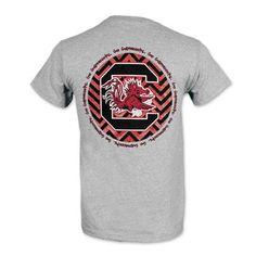 South Carolina Gamecocks Ladies' Chevron Circle T-Shirt - Gray #gamecocks