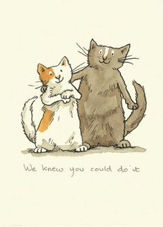 M160 WE KNEW YOU COULD DO IT a Two Bad Mice Greeting Card by Anita Jeram