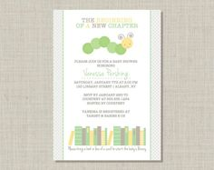 book baby shower invitations | Book Baby Shower Invitation Printable by PricklyPress on Etsy