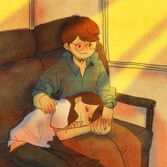 ♥ TRAIN ~ I'm happy to watch over her while she sleeps… ♥ by Puuung at www.facebook.com/puuung1 ♥