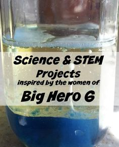 Science fun from Disney's Big Hero 6! Don't miss #science fun Inspired by Honey Lemon and GoGo Tomago at www.themakermom.com. #STEM #Disney