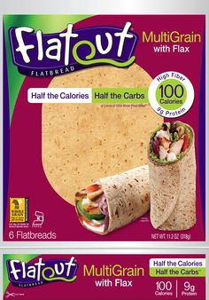 Great tasting soft wraps for anything you can think of...pizzas, grab-n-go wraps, chips, desserts, etc. 100 calories / 15g carb / 9g pro / 2g fat