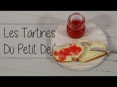 Les tartines du petit dej madame patachou confiture beurre pain polymer clay fimo  Bread is baked with baking soda.  Interesting.