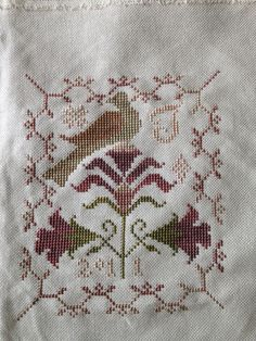Wild Lilies by Blackbird Designs. Using Week Dye Work floss, The Gentle Art floss and Classic Colorwork floss. All variegated. Cross Stitch Sampler Patterns, Vintage Cross Stitches, Cross Stitch Samplers, Weaving Patterns, Cross Stitch Designs, Cross Stitching, Fabric Patterns, Cross Stitch Embroidery, Cross Stitch Patterns