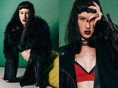 WOW SHADY-deFUZEMAGAZINE featuring our Uzma Bozai Layan leather skirt http://www.defuzemag.co.uk/shady-defuze-magazine/ #fashion #styling