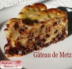 gâteau de Metz aux éclats de chocolat