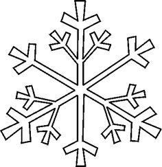 Printable Snowflake Patterns | Snowflake Stencil 4 -- Free Christmas Snowflake Stencils to Print and ...