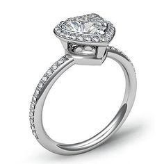 Gorgeous Heart Diamond Engagement Ring EGL Certified E VS2 Platinum 950 1 53 Ct | eBay