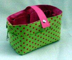 Organizador M Verde c/ poás/Pink