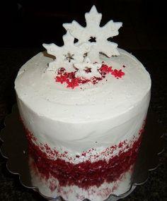 Red Velvet Christmas Cake  Cake by eatcravelove