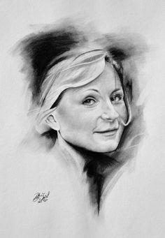 Kresba portrét obličeje detail #charcoal #portrait