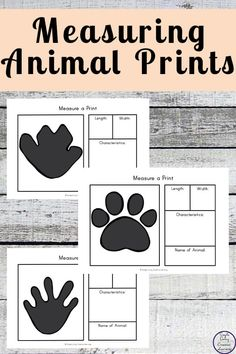 Animals leave their prints all over the place. In this printable pack, they will get to measure an animal print and learn all about it. Animal Activities For Kids, Educational Activities For Kids, Fun Games For Kids, Math For Kids, Science For Kids, Fun Math, Math Activities, Measurement Activities, Homeschool Math