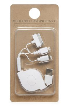 Primark - White Multi End Charger