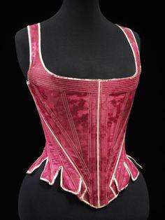 Stays  1770-1790  © Victoria and Albert Museum, London. Il peut aussi y avoir des couleurs qui claquent.