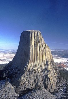 "Devil's Tower, Wyoming - Reminds me of the movie, ""Close Encounters of the Third Kind"""