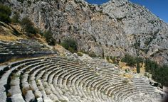 An ancient Greek amphitheatre stands at the Sanctuary of Apollo on Mount Parnassus. (From: Photos: Beautiful Sacred Places Around the World)