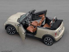 This is what I really want!!! Convertible BMW Mini Cooper S