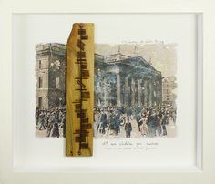 Hand cut piece of wood sourced in Ireland with a pyrographed ogham wish and framed. Ogham is an Early Medieval alphabet used primarily to write the early Irish language . An image of the GPO during Easter Rising has been transfer by hand.