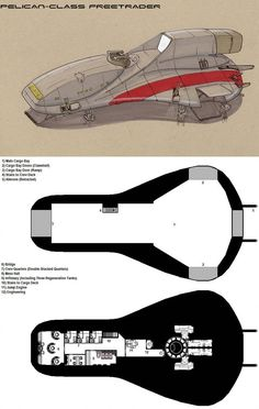 Deckplans for a Freetrader vessel from the Dark Nova RPG, copyright Dark Nova Games. A typical armed merchantman, the Avro Gockstadt is popular among Freetraders that need to haul a lot of car. Spaceship Images, Spaceship Design, Spaceship Concept, Concept Ships, Star Trek, Star Wars Rpg, Star Wars Ships, Ship Map, Space Opera