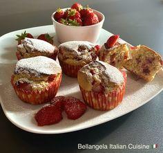 Strawberry muffins 🍓 Good Morning 🌞 you all! #muffins #strawberry #dolci #dolcilovers #dessert #muffinstime #italiandolci