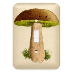 Vintage Mushroom Light Switch Plate Cover. $7.25, via Etsy.