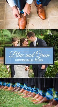 Add some color to your wedding with blue and green argyle socks. Whether you choose to match the socks to the bridesmaid dresses or just add a splash of spring and summer to your wedding, you are sure to create add some personality and fun to your wedding. Shop this blue and green socks and more. Photography by http://leahbarryphotography.com/