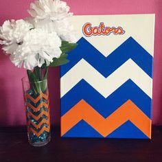 Chevron University of Florida Gators Canvas Painting - Made to Order