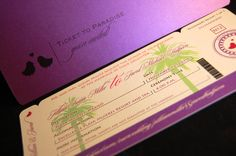 New to anaderoux on Etsy: Boarding pass invitation sample - Beachy Copy (5.50 USD)