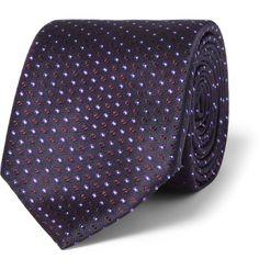 Canali Patterned Woven-Silk Tie | MR PORTER