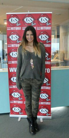 Antonia Iacobescu, beautiful in her camo pants and cute necklace