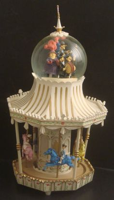 RARE Mary Poppins Carousel Musical Snow Globe Snow Dome Snowglobe | eBay