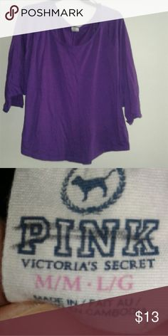 PINK Victoria's secret slouch purple top Slouchy purple Victoria's secret pink top very comfortable and excellent condition worn twice make an offer  :) Victoria's Secret Tops