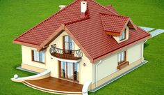 DN Karen is a house with an attic, basement with garage single user in a block building. The project is. Simple House Design, Dream Home Design, My Dream Home, Village House Design, Village Houses, House Design Pictures, Modern Bungalow House, Architectural House Plans, Mexico House