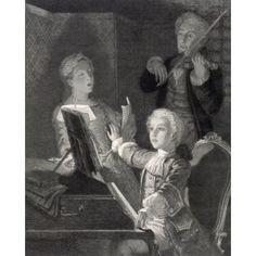 Wolfgang Amadeus Mozart 1756 1791 As A Child Austrian Composer And Musician From A 19Th Century Engraving Canvas Art - Ken Welsh Design Pics (13 x 16)