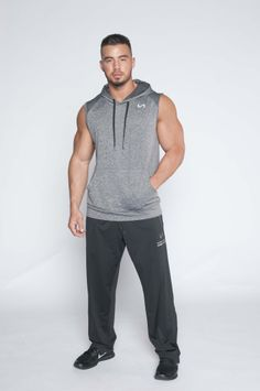 Mens Beach sport Casual Slim Fit Hoody sleeveless T-shirt Vest ...