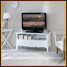 Free delivery over to most of the UK ✓ Great Selection ✓ Excellent customer service ✓ Find everything for a beautiful home Furniture, House Design, Home, White Shabby Chic, Shabby, Cool House Designs, Tv Stand, Tv Stand Wayfair, Interior Design