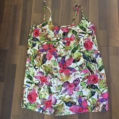 Show Me Your Mumu Estella Topslip Sz S An amazing top! The top half is lined but the bottom half is a bit sheer. It has adjustable straps. Great as a top or as a dress if you have a short torso or are petite! Can also be used as a coverup. Show Me Your MuMu Tops Tank Tops