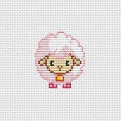 Cross stitch pattern PDF Cute lamb pink sheep - 2016 new year ideas, cross stitch, cross stitch