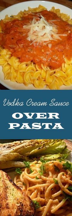 Vodka Cream Sauce Over Pasta is simply delicious. Including sausage, ground beef, chicken or even shrimp will spice it up.