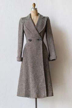 Ephemeral Elegance — Princess Style Wool Coat, ca. 1940s via Adored...