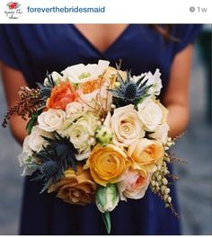 Perfect bridesmaid dress and bouquet
