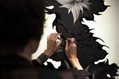 Black diamonds Diva, Swarovski art - Amarist blog